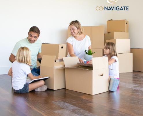 Family move into home